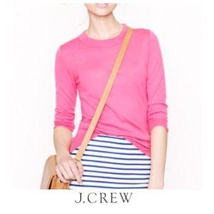 J. Crew Pink Merino Wool Tippi Sweater